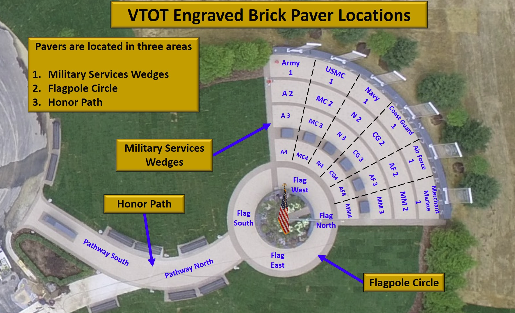 Brick Layout for Veterans Tribute